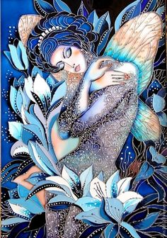 Buy 1 Get 1 Free Coupon Angel Spring Flowers Modern Cross Stitch Pattern Counted Cross Stitc Glass Painting Designs, Paint Designs, Glass Painting Patterns, 5d Diamond Painting, Silk Painting, Stained Glass Paint, Inspiration Art, Modern Cross Stitch Patterns, Beginner Painting
