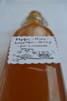 Apfel-Minz-Sirup mit Limette
