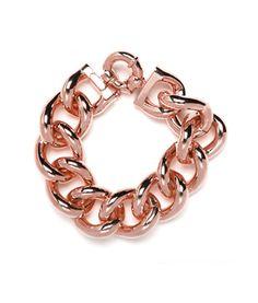 Rose gold links bracelet; baublebar.com