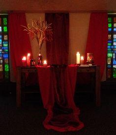 Pentecost Worship Center Altar 2014, Grace Avenue UMC, Frisco, TX