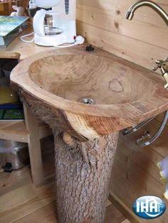Holz Waschbecken Bad Form Holzoberfläche Gully Baumstamm - home decor ideas Woodworking Projects Diy, Wood Projects, Woodworking Plans, Intarsia Woodworking, Woodworking Supplies, Craft Projects, Woodworking Beginner, Woodworking Quotes, Woodworking Skills