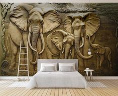 Wallpapers YOUMAN 3 d Wallpaper TV Wall Mural for TV background Golden Elephant Home Decor Bedroom Photo Mural Wallpaper Design Cheap Wallpaper, Wallpaper Decor, Photo Wallpaper, 3d Wallpaper For Walls, Wallpaper Wallpapers, 3d Wall Murals, Mural Art, Elephant Background, Elephant Wallpaper