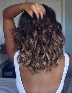 Les plus beaux ombré hair - Hair Beauty Ombré Hair, New Hair, Curls Hair, Red Curls, Black Curls, Brown Curls, Blonde Curls, Soft Curls, Hair Dye
