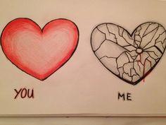 Drawings Of A Broken Heart Drawings Of A Broken Heart This image has. Drawings Of A Br Broken Heart Pictures, Broken Heart Drawings, Broken Heart Quotes, Heart Broken, Heart Break Drawings, Broken Heart Sketch, Sad Drawings, Couple Drawings, Heartbroken Drawings