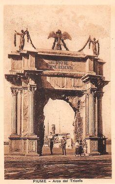 Rijeka - 1924. - Molo Adamich - kraljevski slavoluk