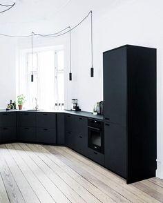 Black minimalistic kitchen
