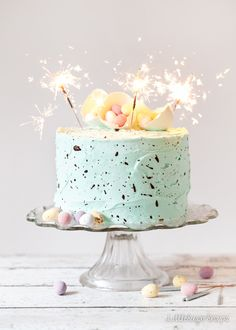 speckle cake: white chocolate peppermint layer cake