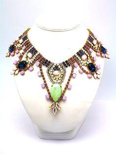 Statement necklace# neon bright# jewels