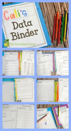 FREEBIE ALERT! 60 editable student data tracking binder pages from The Curriculum Corner