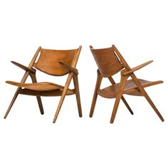 Hans Wegner Easy Chairs Model CH-28 by Carl Hansen & Søn ca.1951