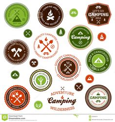 vintage camping graphics - Google Search