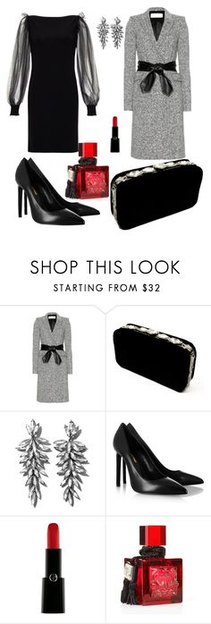 """Sin título #241"" by mayuska ❤ liked on Polyvore featuring Yves Saint Laurent, Azzaro, Henri Bendel, Giorgio Armani and Lalique"