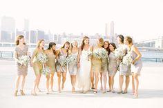 Lovely Metallic Bridesmaid Dresses | Wedding Ideas