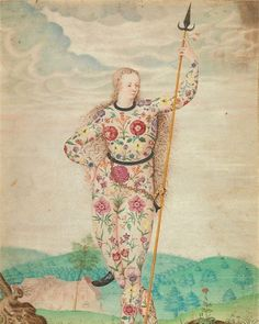 A Young Daughter of the Picts - Jacques Le Moyne de Morgues, ca. 1533 Yale Center for British Art