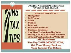 Owning your own home based business there are over 399 tax breaks