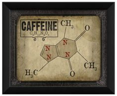 For my kitchen - Caffeine Molecule sign by Artwork Enclosed
