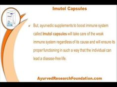 This video describes about ayurvedic supplements to boost immune system naturally in children and adults. You can find more detail about Imutol capsules at http://www.ayurvedresearchfoundation.com