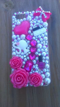 Pink Barbie iPhone 5 caseready to mail by DazzlingCases on Etsy, $19.99