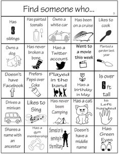 Family Reunion Bingo