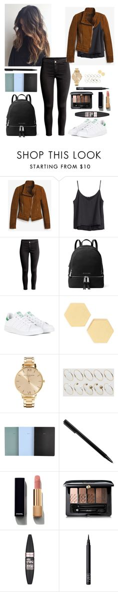 """""""J."""" by johannary ❤ liked on Polyvore featuring White House Black Market, H&M, MICHAEL Michael Kors, adidas, Madewell, Olivia Burton, ASOS Curve, School of Life, Chanel and Guerlain"""