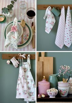 GreenGate Autumn/winter catalogue 2019—Side 4 French Country Cottage, French Country Decorating, Rainbow Kitchen, Cottage Dining Rooms, Sweet Home, Shabby Chic, Pastel, Autumn, Country Kitchen
