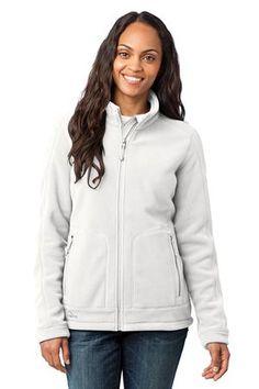 Eddie Bauer - Ladies Wind Resistant Full-Zip Fleece Jacket Style EB231 Off White from SweatShirtStation.com, on sale now for $67.98 #fleece #jacket #white