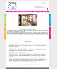 www.lottamuseo.fi verkkosivujen suunnittelu ja ilme.