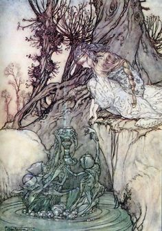 primfairytales:  The Magic Cup by Arthur Rackham