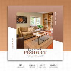 Social media post template instagram, fu... | Premium Psd #Freepik #psd #sale #house #template #social-media Social Media Banner, Social Media Design, Page Design, Layout Design, Graphic Design Brochure, Best Banner, Instagram Post Template, Web Banner Design, Maker