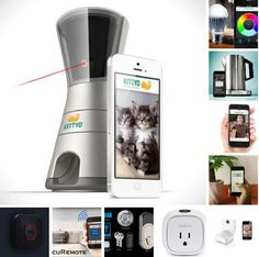 iPhone home automation  http://www.iphoneness.com/iphone-accessories/iphone-home-automation/