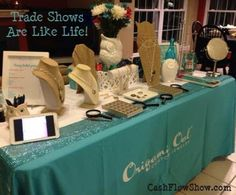 learn how working a trade show and marketing your business out and about are similar