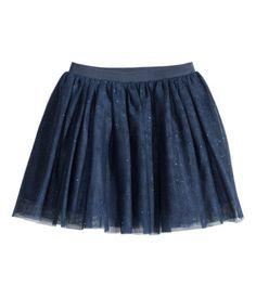 Tulen rok met glitters | Donkerblauw | Kinderen | H&M NL