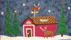 Image result for Christmas House quilts/All through the night