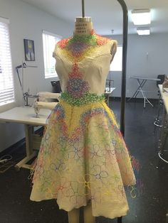 3D Printed finale dress - OH my god this is awesome