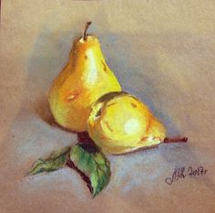 25 Fruit Drawing Ideas Colored With Crayons - Art Crayon Drawings, Oil Pastel Drawings, Crayon Art, Soft Pastel Art, Pastel Artwork, Crayons Pastel, Pastel Pencils, Watercolor Paintings For Beginners, Fruits Drawing