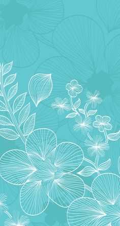 Blue aqua flower