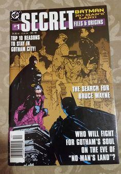 Batman: No Man's Land Secret Files and Origins Vol 1 1 The New Batman, Batman And Batgirl, Batman Art, Dc Comics, Batman Comics, Comic Book Covers, Comic Books, All Batmans, Dark Knight Returns