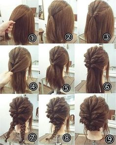 38 inspiring prom updos for long hair # updos hair styles for wedding wedding hair styles hairstyles wedding guest hairstyles wedding hairstyles hairstyle Braided Hairstyles Updo, Hairstyles For Medium Length Hair Easy, Up Dos For Medium Hair, Braided Updo, Medium Hair Styles, Curly Hair Styles, Girl Hairstyles, Hairstyle Ideas, Simple Hairstyles For Medium Hair