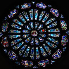 Chartres ~ Centre-Val de Loire ~ France ~ Notre Dame Cathedral ~ Rose Window ~ This window was a gift from the Hope College Class of 1916.