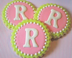 Sweet Goosie Girl's Lilly inspired monogrammed cookies