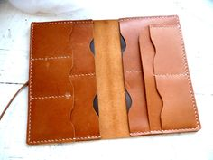 Leather passport wallet family passport holder by inkitbooks