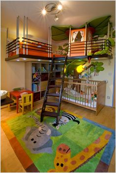 Cameretta per bambini in stile giungla