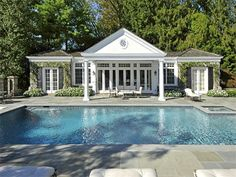 I would never choose the mansion...but I will take the poolhouse! Luxury Homes, Estates & Properties