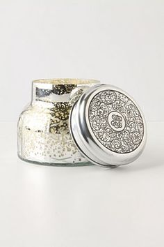 Capri blue mercury glass jar candle (Anthropologie)