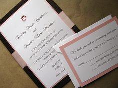 Chocolate and Silk Wedding Invitation | Flickr - Photo Sharing!