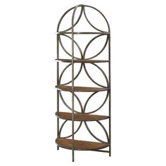 Stylishly stow books and decor with this eye-catching etagere, or stock it with your copper pans and crisp dishware for lovely kitchen storage.