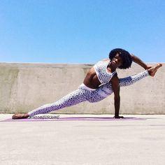 yoga, black girl yoga, yoga photography, natural hair styles, protective hair styles, yoga inspiration, yoga ideas, black queen, black hair styles, melanin, yoga outside , yoga stretch, stronger