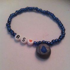 Runescape water rune bracelet on Etsy, $1.45