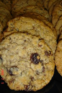Oatmeal Raisin Cookies (like Quaker recipe). Soak raisins (craisins, dried cherries or apricots first). Add-ins: Coconut, banana, chocolate and/or white chocolate chips, blueberries, pecans, almonds, Reese's Pieces, candy corn (on top), brown sugar & butter glaze... ...