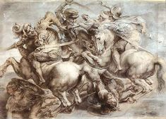 The Battle of Anghiari - Leonardo da Vinci